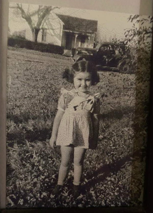 5-year old Mom at their farm in Arkansas.